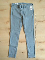 Новые нежно голубые джинсы скини от H&M 30 размер