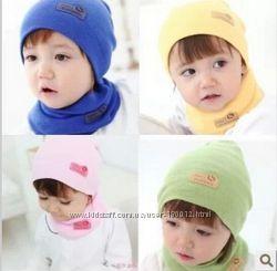 Набор шапочка и шарфик-хомутик