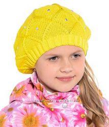 Демисезонные шапочки береты для девочек Huppa Эстония. Распродажа