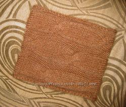 Мега-теплый шарф-снуд ручной работы