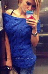 Знаменитый пуловер Ксении Бородиной. Коса-краса.