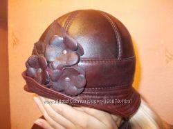Кожаная шляпка