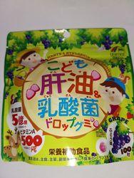 Японские детский комплекс витамин с лактобактериями Unimat Riken 100шт. жел