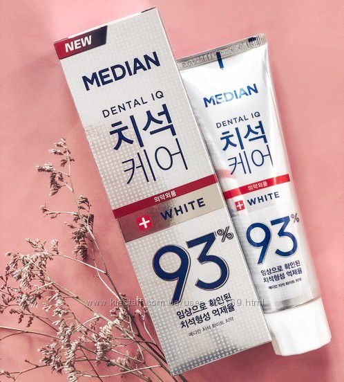 Зубная паста с системой бережного отбеливания зубов Median White 93