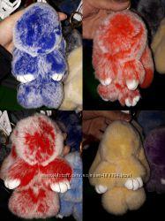 Брелок- кролик натуральный мех