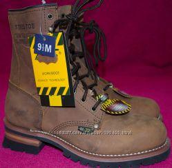 Ботинки сверхпрочные кожаные  с стальным носком непромокаемые . Америка