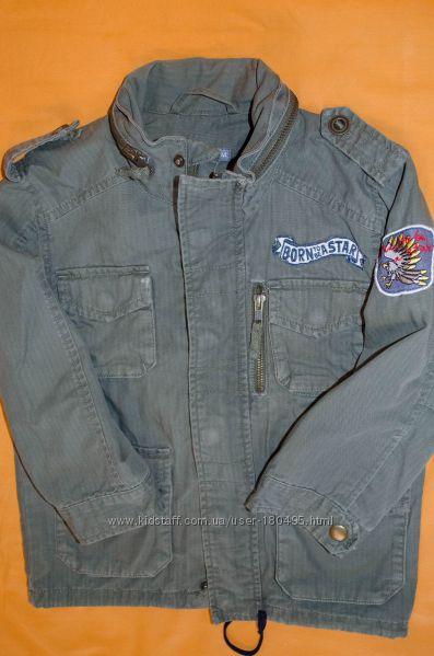 Легкая куртка ветровка H&M в стиле милитари. 4-5 лет.