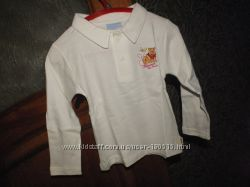 Качественная рубашка  поло из  Италии р 6, 9, 12, 36  мес cotone  interlock