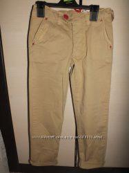 Котоновые брюки чинос песочного цвета Andy Richardson  14 и 6 лет
