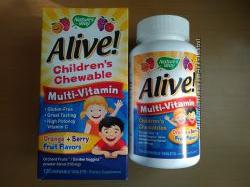 Nature&acutes Way, Alive детские мультивитамины