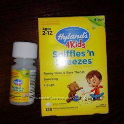 Hyland&acutes, 4 Kids, при насморке и чихании, возраст 2-12, 125 быстрораст