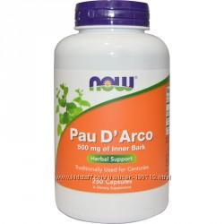 Now Foods, Кора муравьиного дерева, Pau D´ Arco 500 мг, 250 капсул