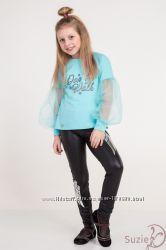 нарядная кофта для девочки с фатиновым рукавом