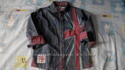 NEXT джинсовая рубашка 4-5 лет 110 см большемерит