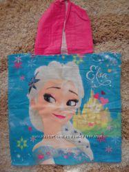 Пляжное полотенце-пончо Холодное Сердце