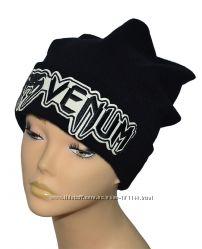 Зимняя шапка Хулиганка, разная вышивка
