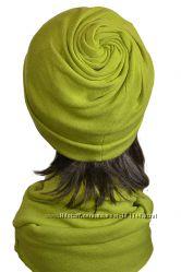 Зимний комплект шапка, шарф Вихрь, разные цвета