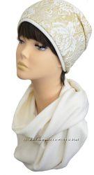 Демисезонный комплект шапка, шарф Кружево