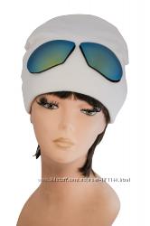 Стильная молодежная шапка Очки, разные цвета