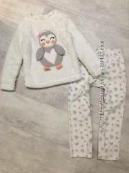 Тёплые пижамы, с Минни, домашний костюм 5-6 лет