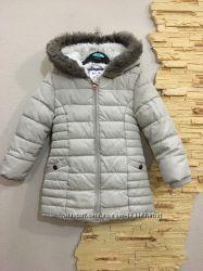Куртка 2-3 года удлиненная пудрового цвета