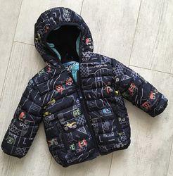 Осенняя курточка Некст маленькому моднику 6-9 мес