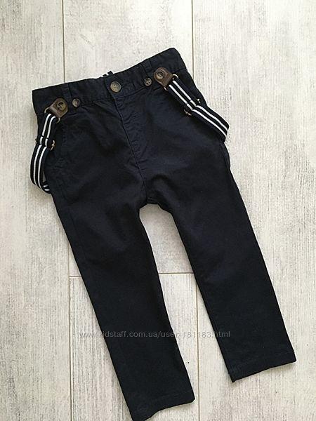 Штаны, джинсы с подтяжками 12-18 мес и больше