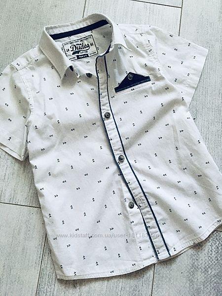 Нарядная белая рубашка 4-5 лет