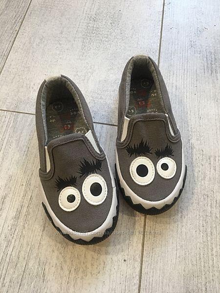 Кеды слипоны Текстильные туфли монстрики 24 размер новые сток