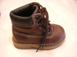 Ультрамодные Деми Осенние Корич Кожа ботинки OSH KOSH BGOSH Стелька 14 см
