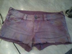 Америка Оригинал Брендовые Сиреневые джинсовые шорты GUESS ОРИГИНАЛ S-M