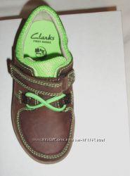 Новые туфли мокасины CLARKS, кожа, 15, 5 см стелька