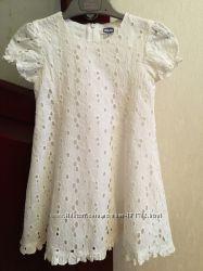Продам Хлопковое белое платье Чикко
