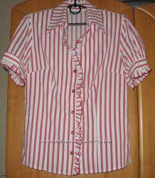 Полосатая блуза-рубашка 48-50р.