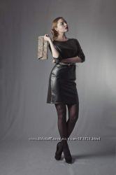 Бомбезное кожаное платье от украинского дизайнера