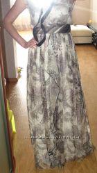 Шикарное платье МАНГО, 100 шелк