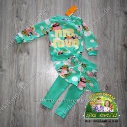Модный костюм для девочек мятного цвета в наличии