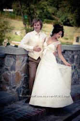 Французское свадебное платье с открытой спиной
