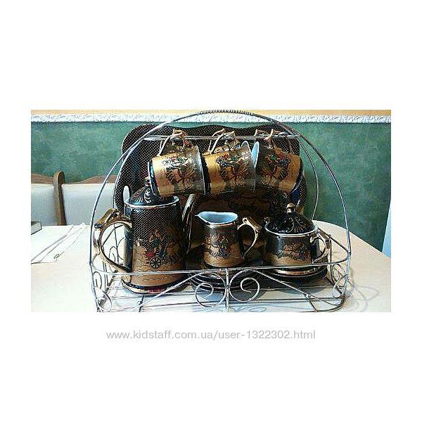 Кофейный сервиз с  разносом