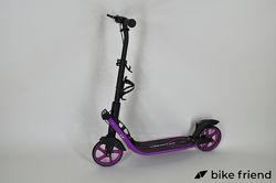 Самокат двухколесный Maraton Concept 210 фиолетовый с ремнем  фонарик