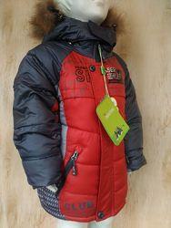 Зимняя теплая куртка пальто на мальчика 3,4,5 лет