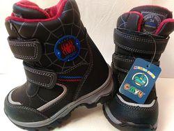 Зимние термо ботинки сапоги на мальчика 23,25,26,27 р.