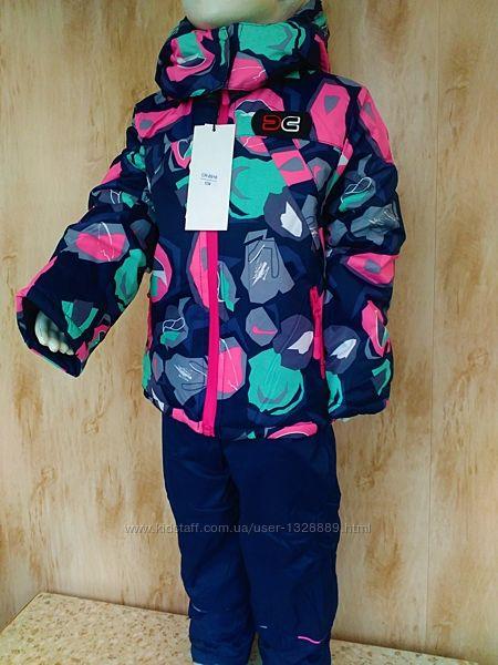 Красивенный Зимний костюм комбинезон на девочку 3-4 года, 98-104 рост