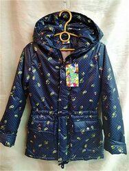 Ветровка Куртка парка на девочку весна осень 7-8,10-12 лет Цветочки