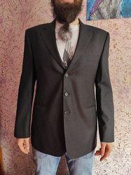 Aquascutum пиджак мужской черный британский бренд