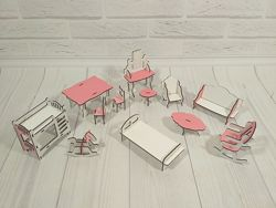 Набор мебели для маленьких кукол, арт. 1102