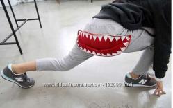 прикольные штанишки зубы акулы