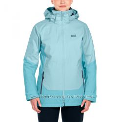 2XL, 56 оригинал куртка Jack Wolfskin 3-в-1 голубая