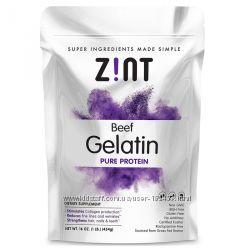 Желатин органический ZINT, Beef Gelatin из коров травяного выпаса