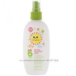 BabyGanics детский солнцезащитный спрей SPF50 177 мл. Безвредный